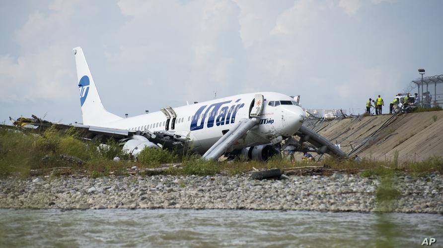 صورة للطائرة بعد الحادث