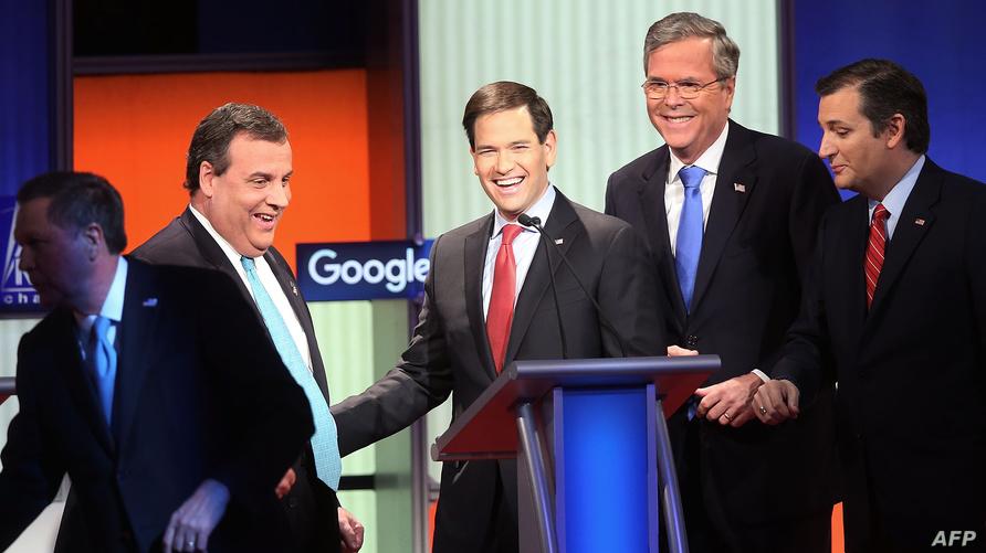 جانب من مناظرة الجمهوريين