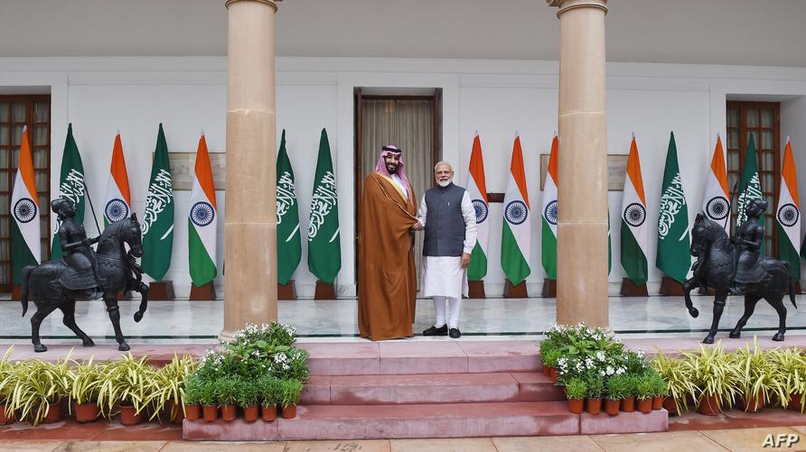 ولي العهد السعودي برفقة رئيس الوزراء الهندي