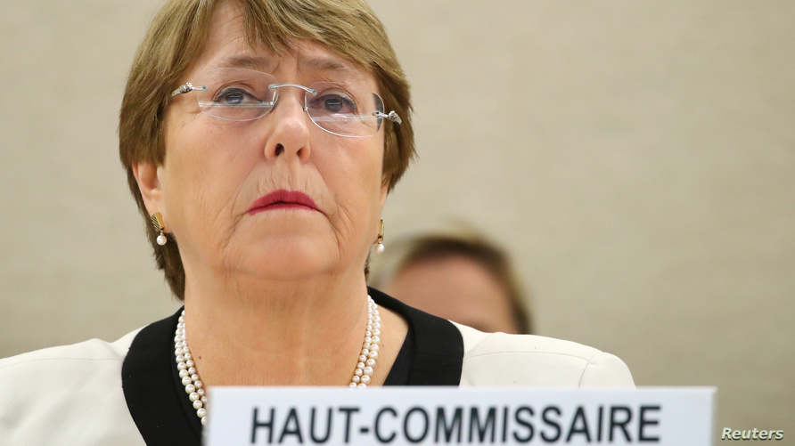مفوضة الأمم المتحدة لحقوق الإنسان ميشيل باشليه