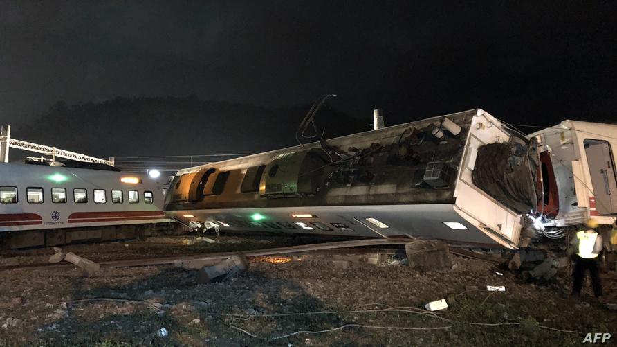حادث انقلاب القطار في تايوان