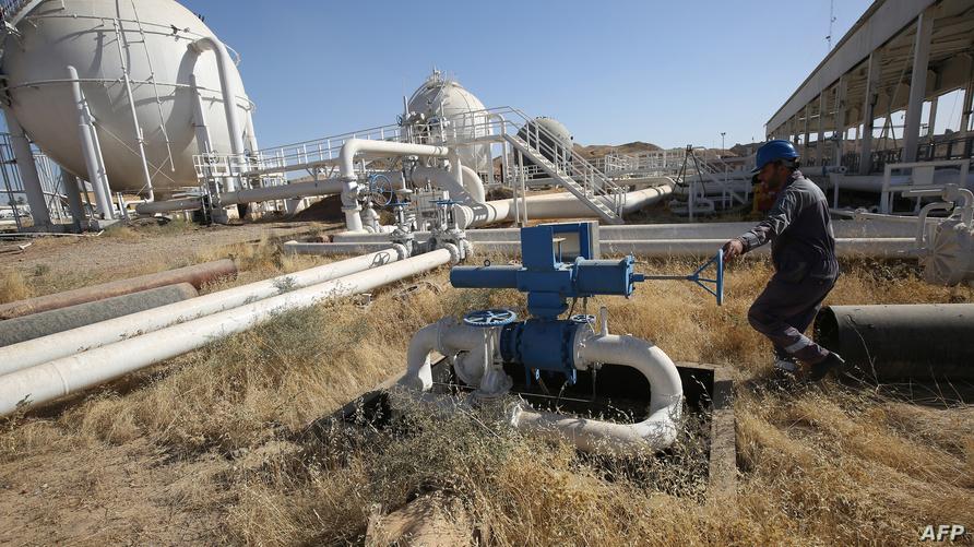 جانب من أحد حقول النفط في كركوك