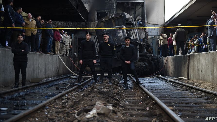آثار الحريق في المحطة