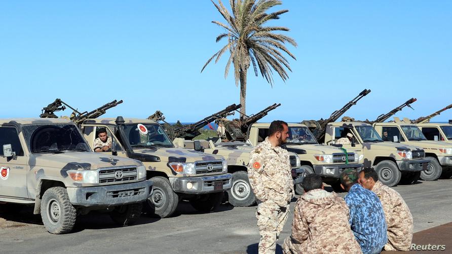 قوات تابعة لحكومة طرابلس في منطقة تاجوراء