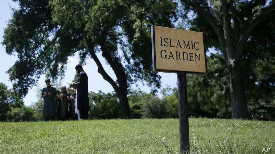 حديقة تابعة لمقبرة إسلامية في تكساس