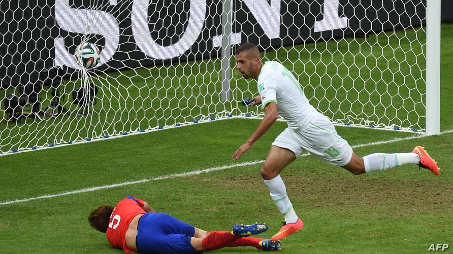 إسلام سليماني موقعا الهدف الثاني لمنتخب الجزائر أمام كوريا الجنوبية