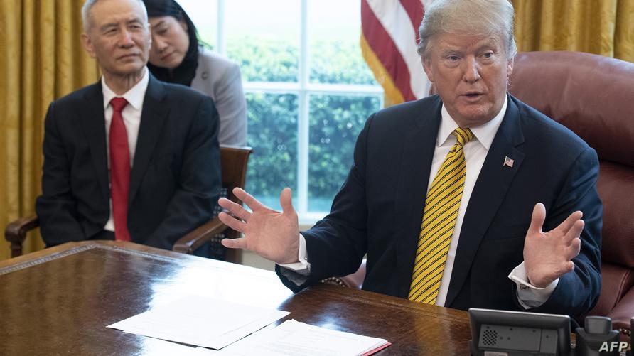 الرئيس دونالد ترامب ونائب رئيس الوزراء الصيني ليو هي