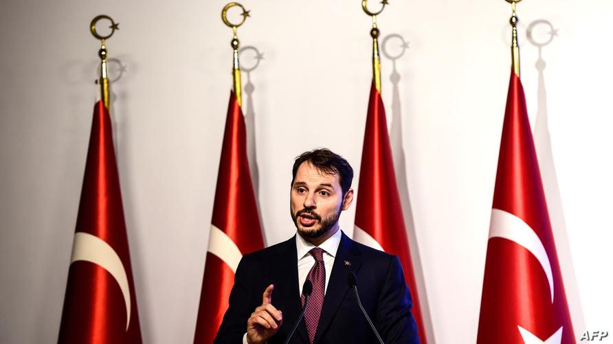 براءة البيرق، وزير المالية التركي