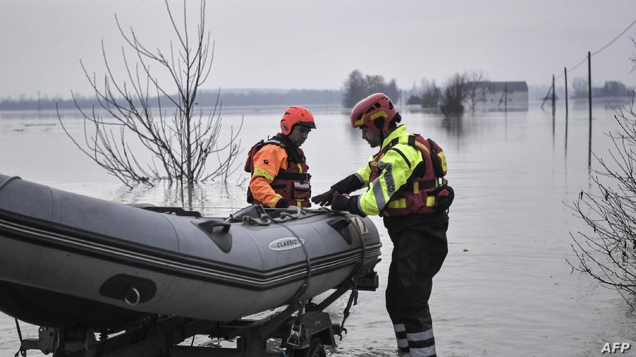 جانب من منطقة في إيطاليا شهدت فيضانات - أرشيف