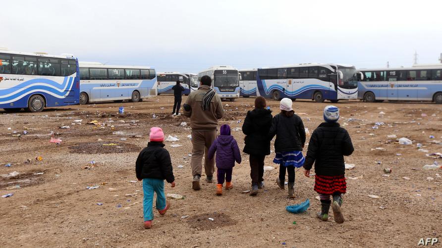 نازحون عراقيون من شمال الموصل