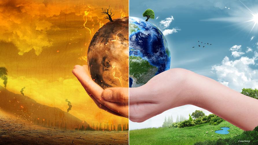 كوكب الأرض بعد التغير المناخي