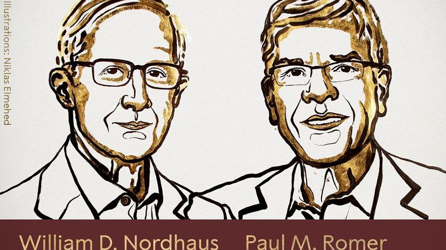 بول رومر (يمين) وويليام نوردهاوس (يسار)