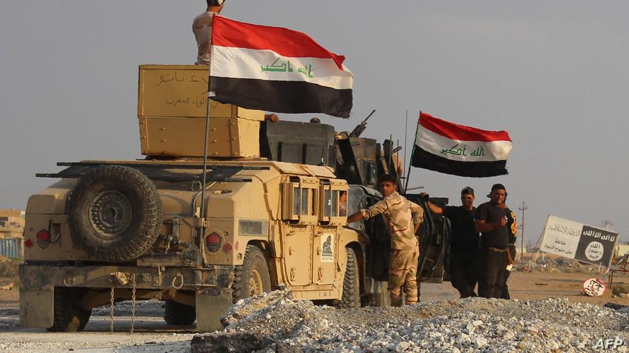 قوات عراقية في بلدة هيت بالأنبار-أرشيف