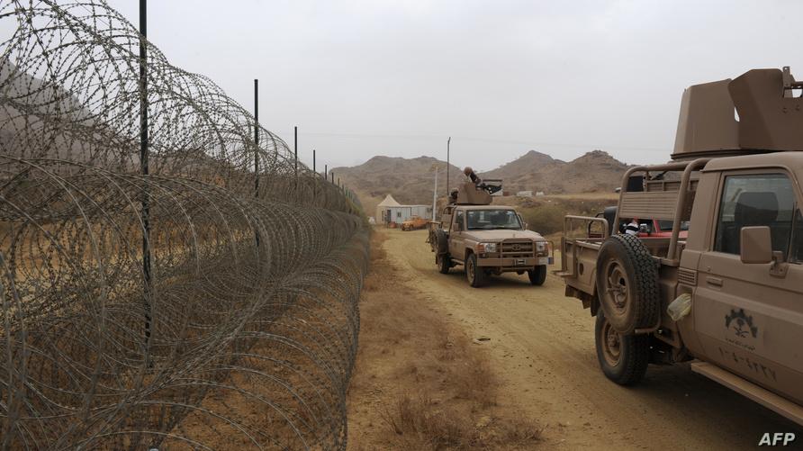 قوات سعودية في منطقة جازان على الحدود مع اليمن- أرشيف
