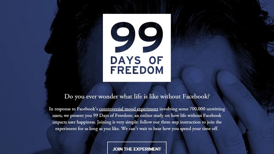 شعارحملة لمقاطعة فيسبوك لمدة 99 يوما