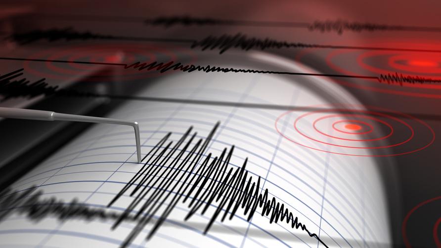 جهاز السيسموغراف خلال تسجيل موجات زلزالية