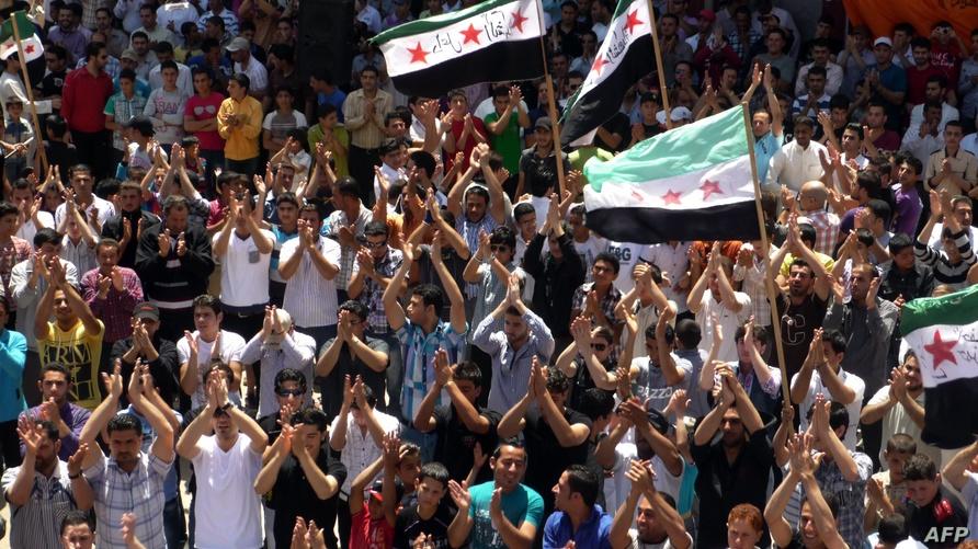تظاهرة في درعا ضد نظام الأسد - أرشيف