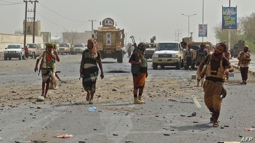 أفراد من القوات الموالية للحكومة اليمنية شرقي الحديدة