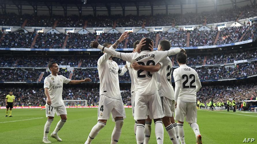 ريال مدريد يحتفل بالفوز