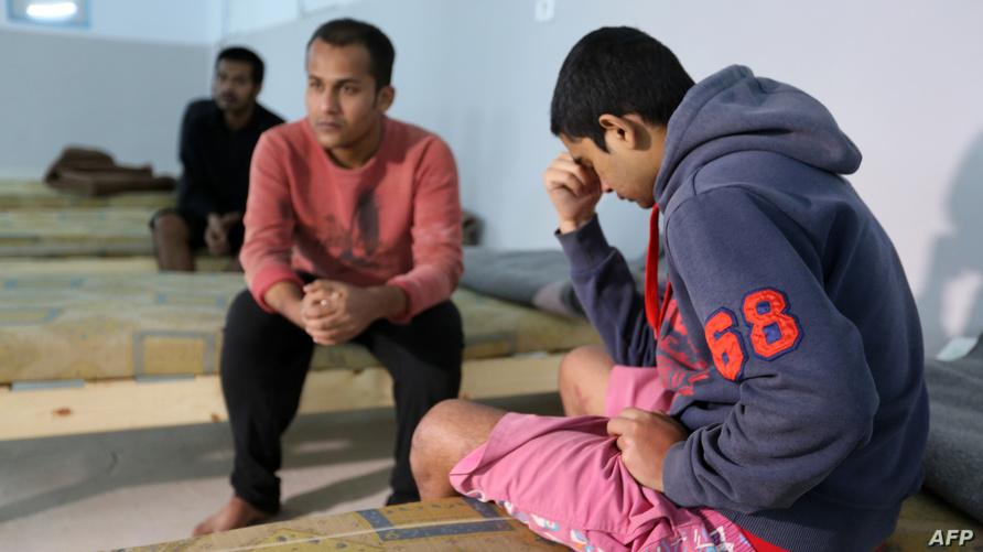 مهاجرون في ملجأ بتونس