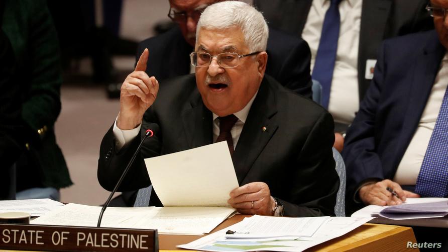 عباس خلال كلمته أمام مجلس الأمن حول الخطة الأميركية