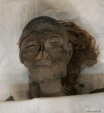 مومياء الملكة حتشبسوت في المتحف المصري في القاهرة