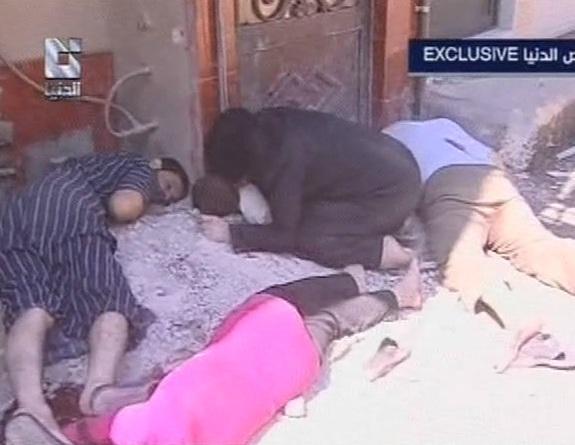 من مجزرة داريّا 2012/ قناة الدنيا