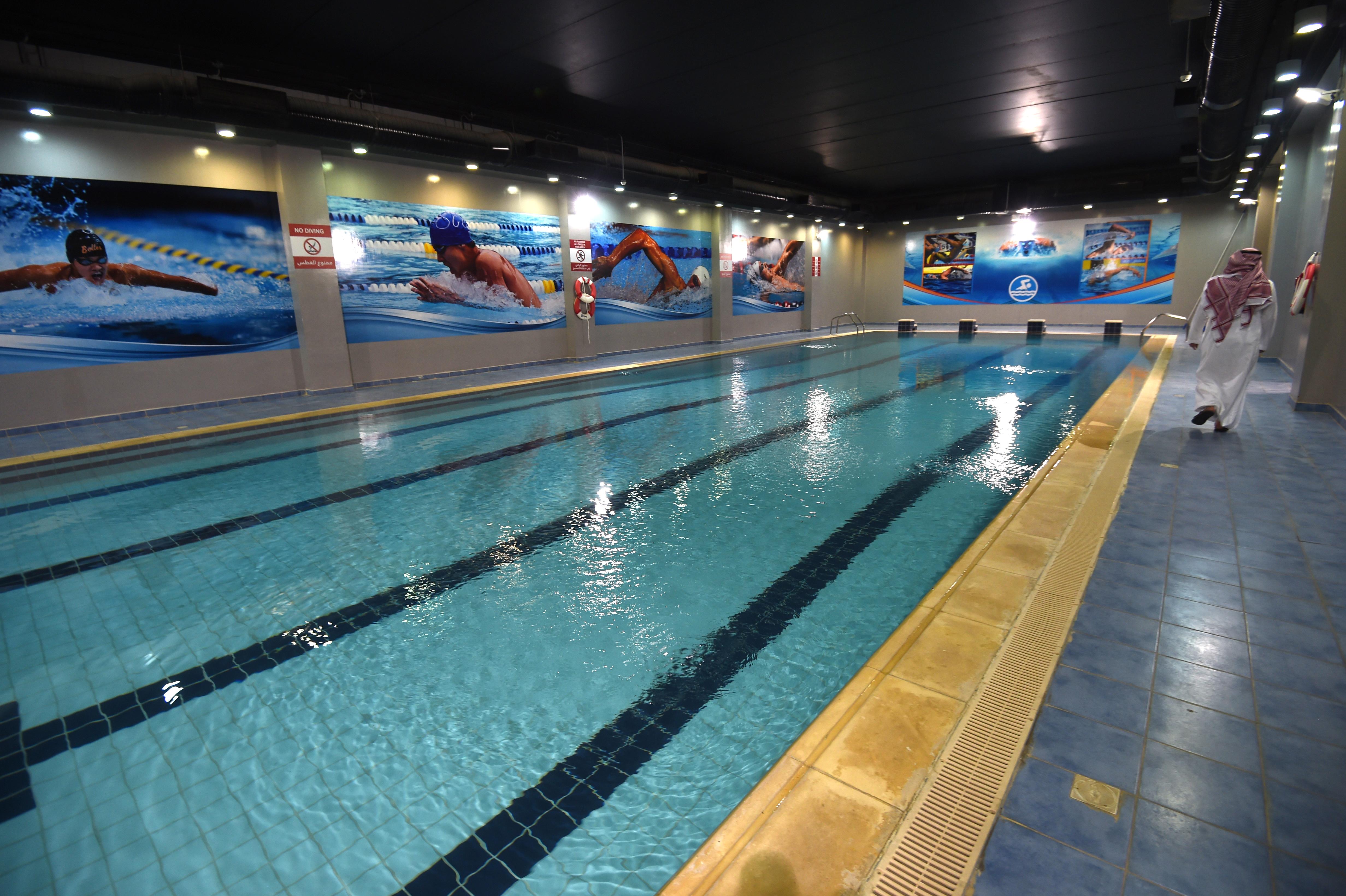 حوض سباحة داخلي في مركز محمد بن نايف للمناصحة/وكالة الصحافة الفرنسية