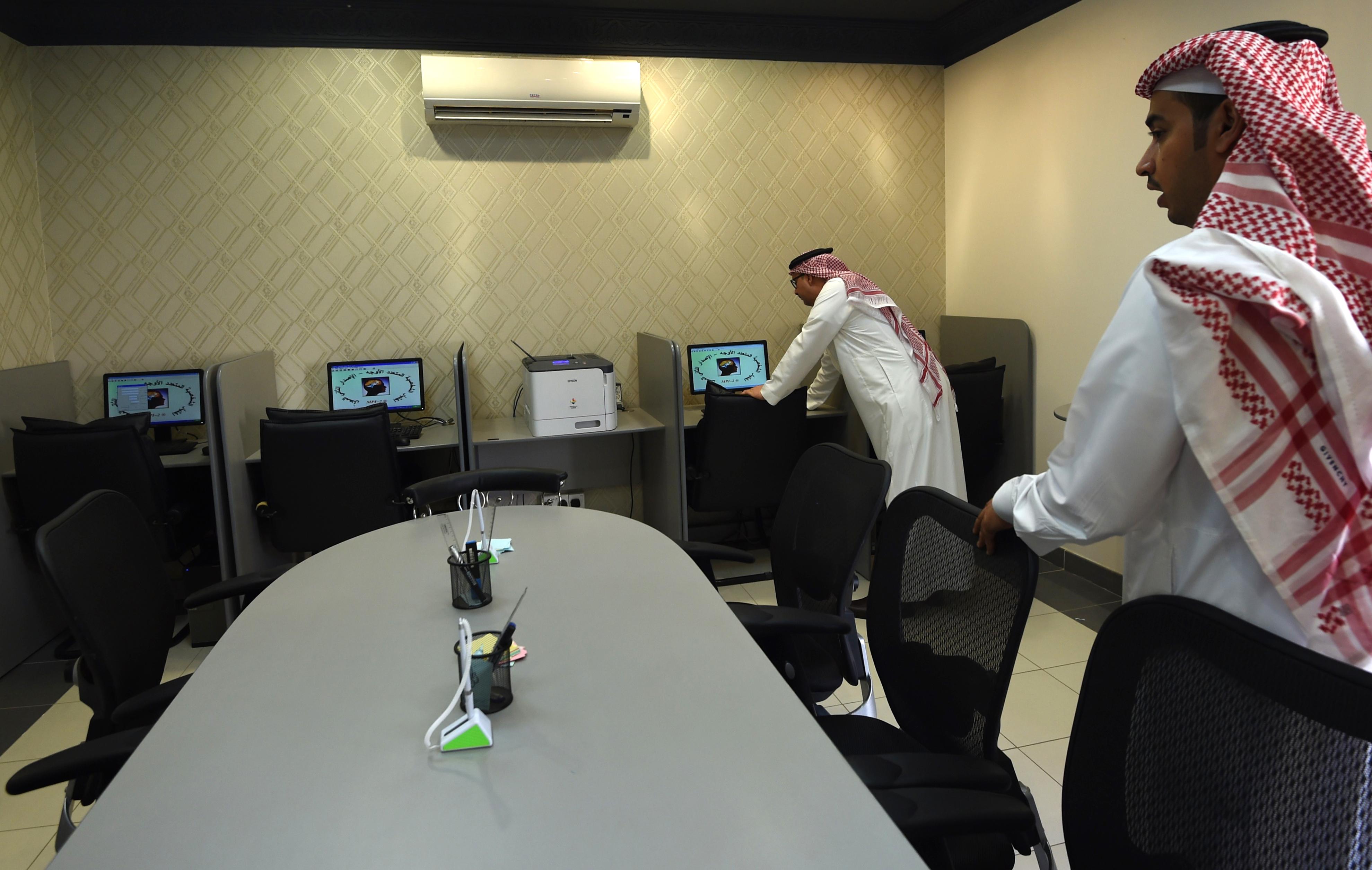 غرفة الكمبيوتر في مركز محمد بن نايف للمناصحة/وكالة الصحافة الفرنسية