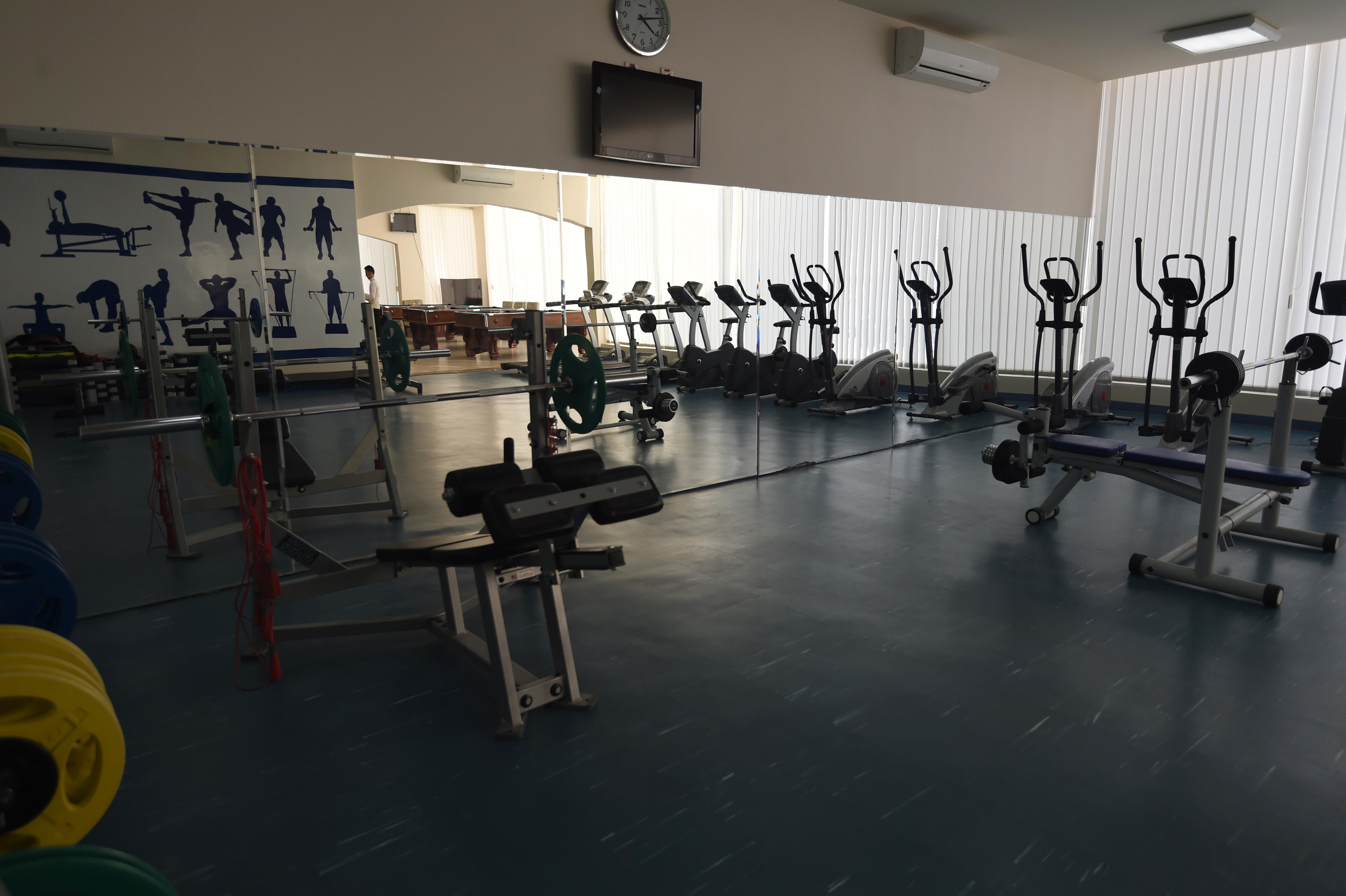 قاعة للتمارين الرياضية داخل مركز محمد بن نايف لمناصحة/وكالة الصحافة الفرنسية