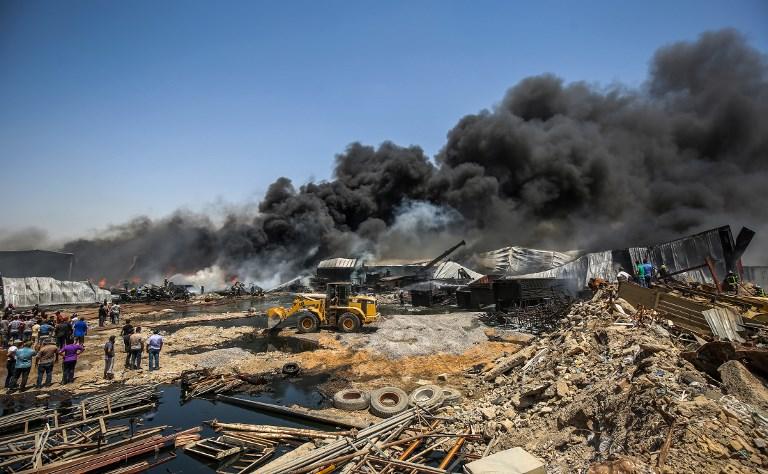 حرائق جراء انفجار في مخزن/وكالة الصحافة الفرنسية
