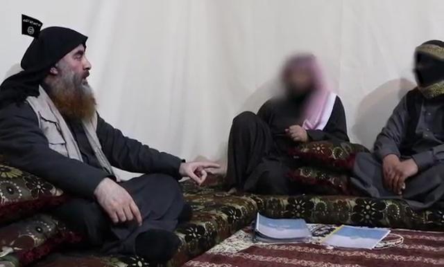 زعيم تنظيم داعش السابق أبو بكر البغدادي يلتقي بعدد من قيادات التنظيم