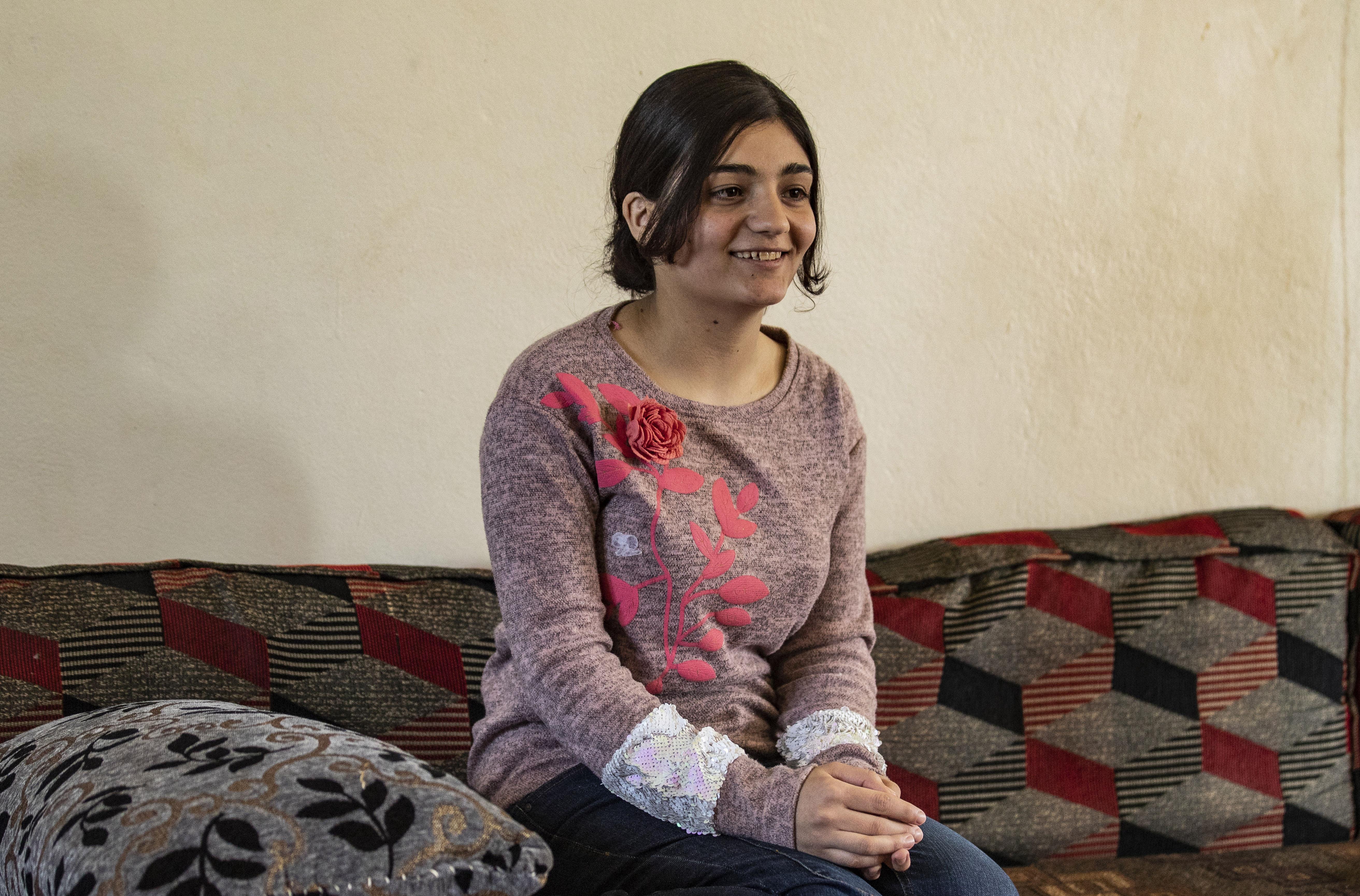 الشابة الأيزيدية العراقية ليلى عيدو