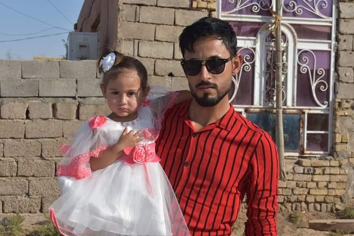 صورة المحامي المختطف علي جاسب وابنته ليان