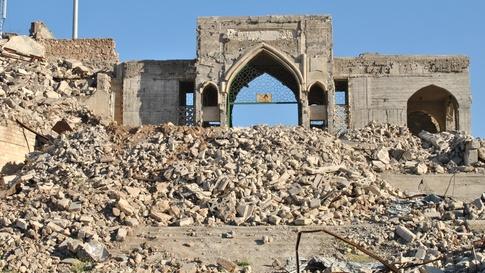 مرقد النبي يونس في الموصل تعرض للتدمير على يد داعش