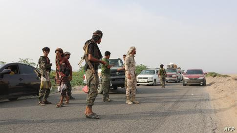 مقاتولون من قوات الحزام الأمني المدعوم من دولة الإمارات