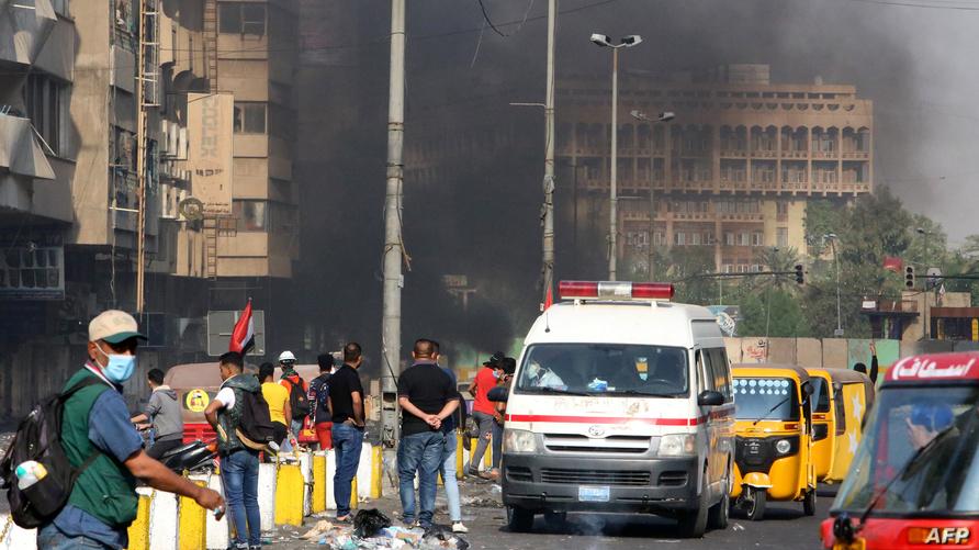 مواجهات في بغداد بين المتظاهرين وقوات الأمن الثلاثاء