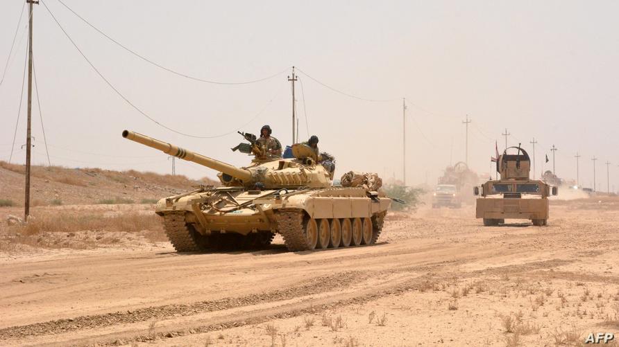 دبابة تابعة للقوات العراقية/وكالة الصحافة الفرنسية