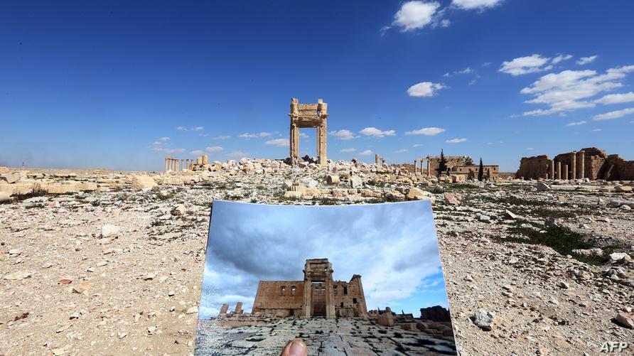 *الصورة: آثار الدمار في تدمر/وكالة الصحافة الفرنسية