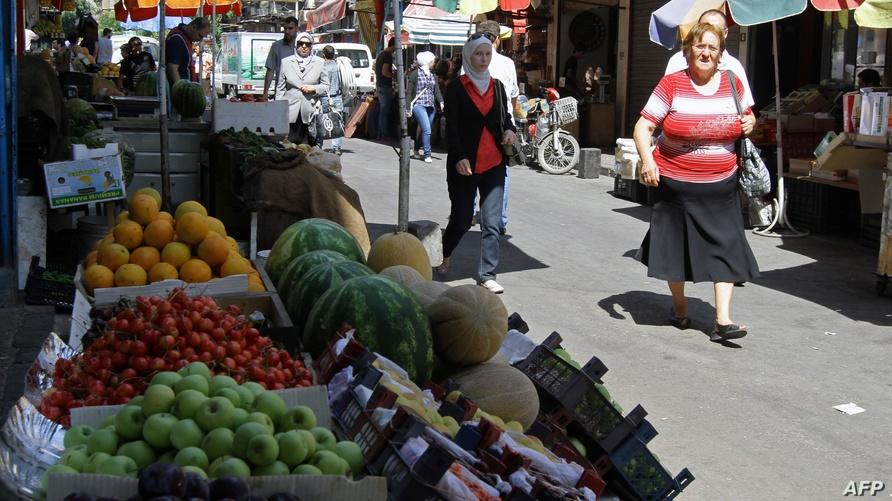 أحد أسواق مدينة دمشق