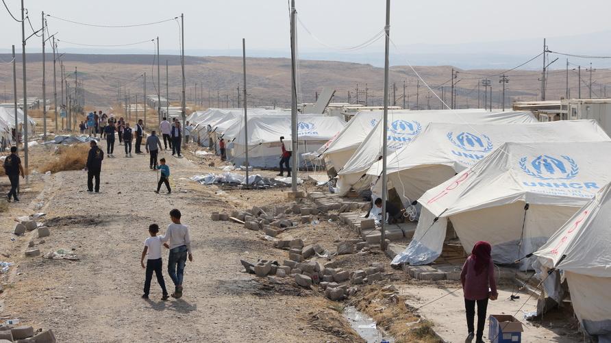 """مخيم بردرش/ تصوير مراسل """"ارفع صوتك"""" متين أمين"""