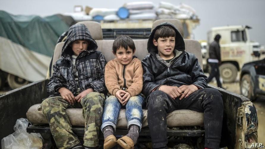 أطفال في أتون الحرب السورية/وكالة الصحافة الفرنسية