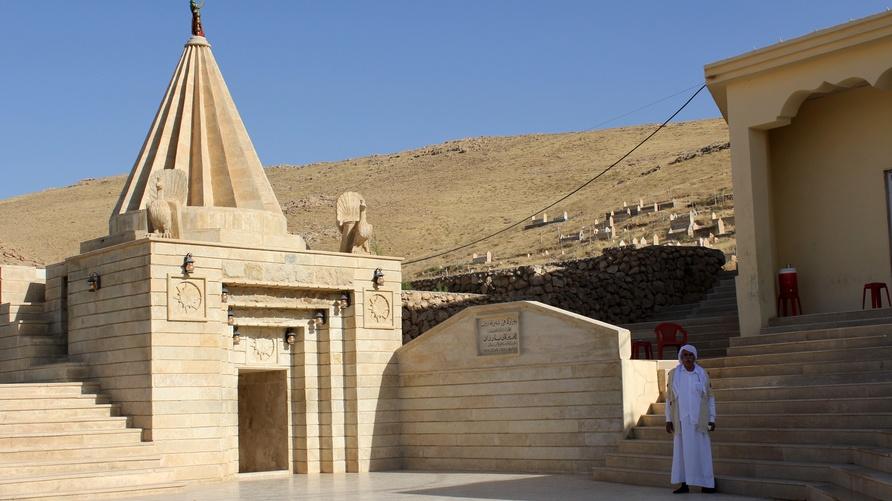 مزار شرف الدين أقدس موقع ديني لدى الأيزيديين بعد معبد لالش/ إرفع صوتك
