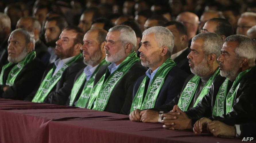 قيادات حركة حماس في إحدى الفعاليات في قطاع غزة