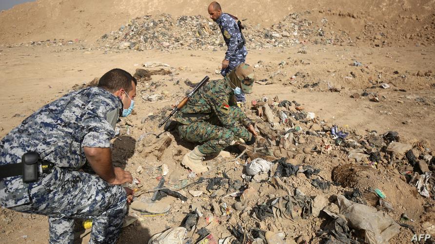 مقبرة جماعية في العراق-أرشيف