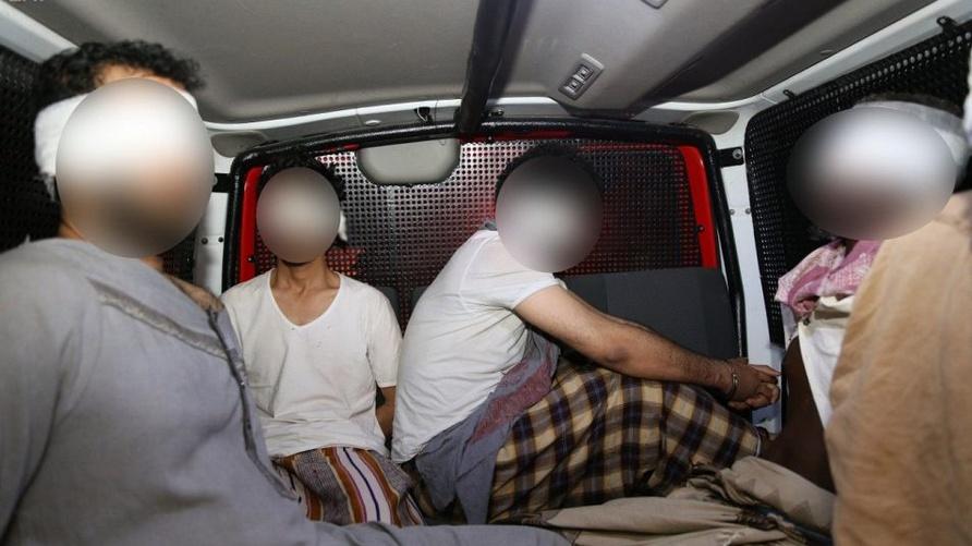 صورة نشرتها وكالة الأنباء السعودية لأعضاء داعش المقبوض عليهم