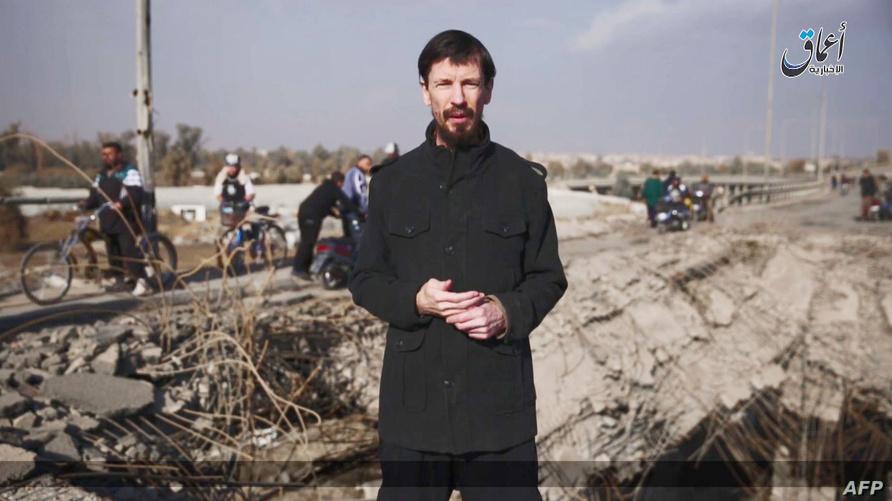 صورة من آخر ظهور علني لجون كانتلي في مدينة الموصل نهاية سنة 2016 (الصورة نقلتها وكالة الصحافة الفرنسية عن فيديو دعائي لداعش)