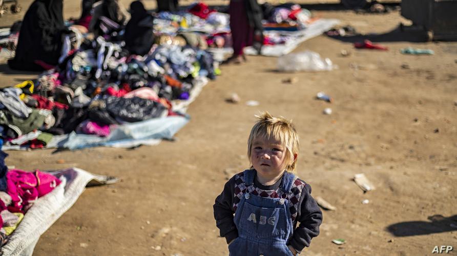 مخيم الهول/ الصورة لفرانس برس