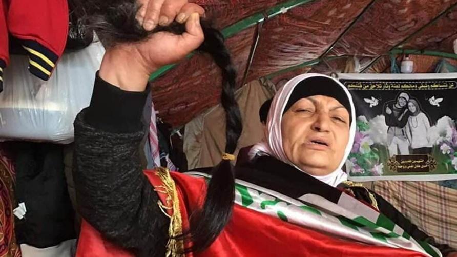 الطبيبة العراقية شذى جمعة في ساحة التحرير- بغداد