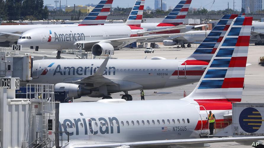 """طائرات تابعة لشركة """"أميريكان إيرلاينز"""" في مطار ميامي الدولي"""